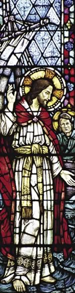 Stained Glass Image of Jesus Teaching